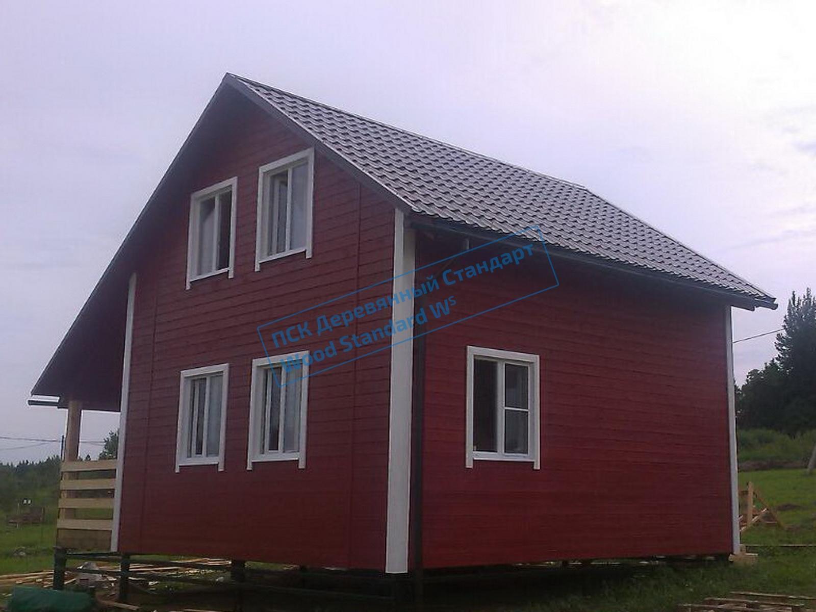 Построенный под ключ каркасный дом