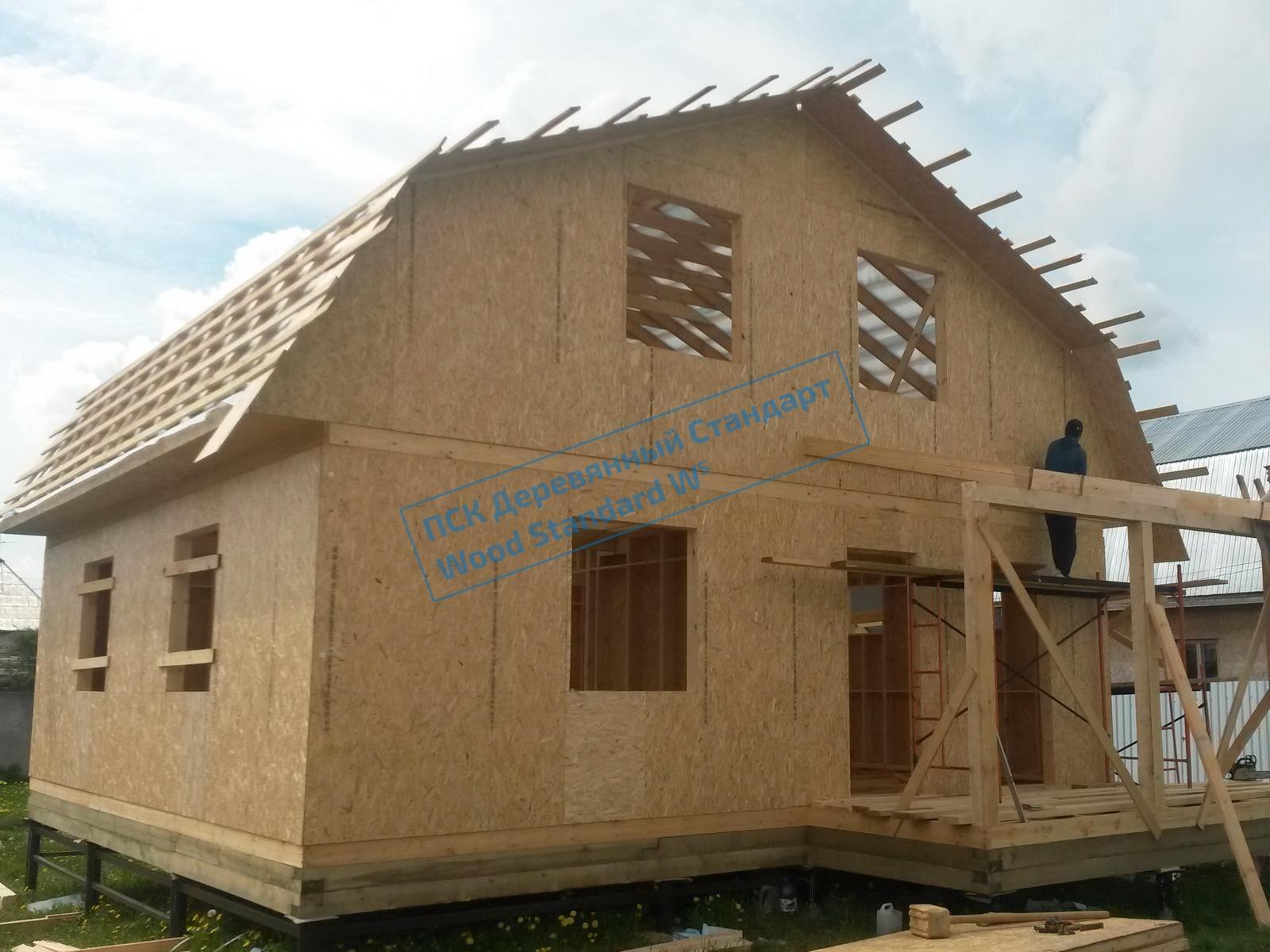 Процесс строительства каркасного дома под ключ