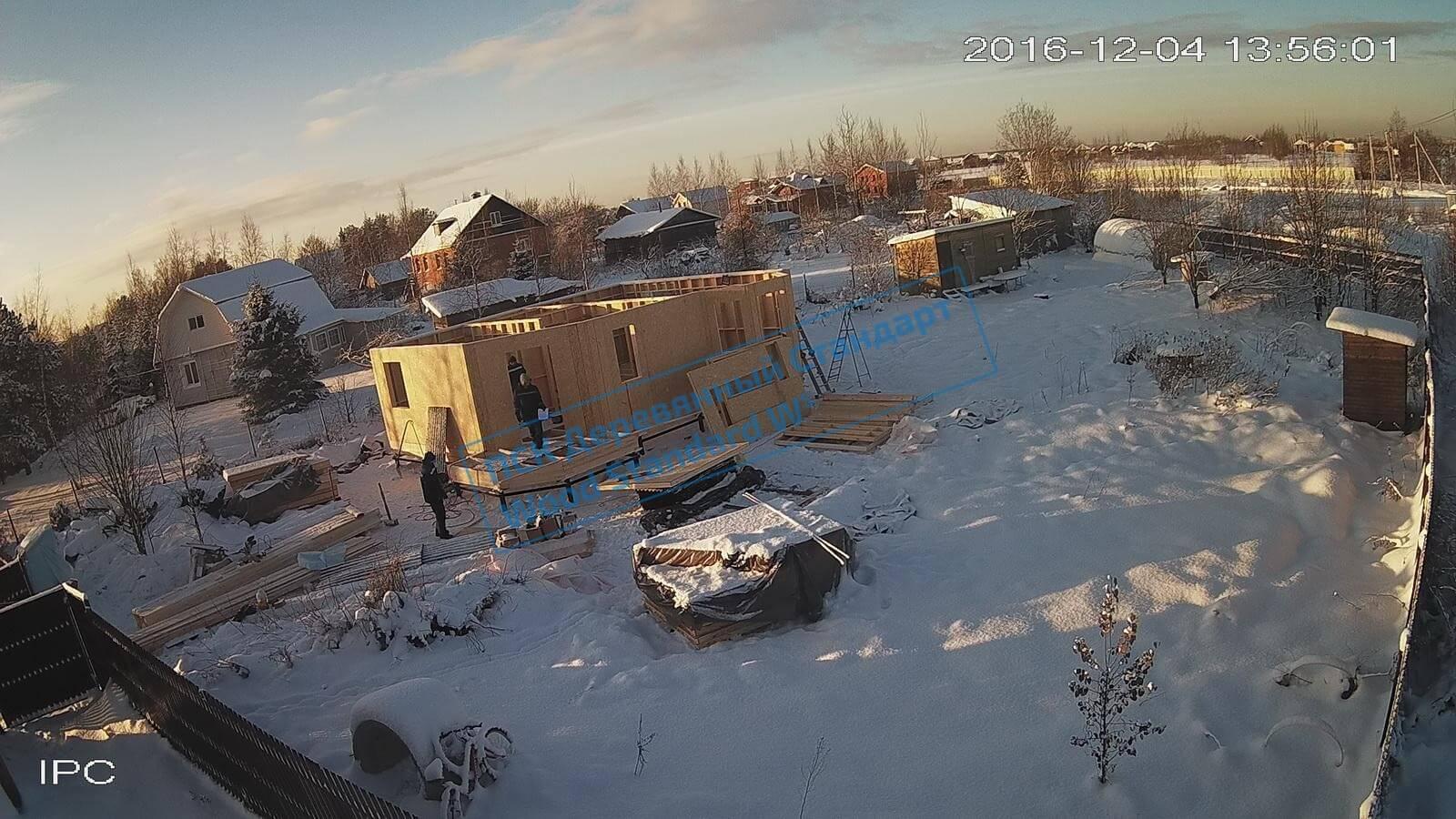 Процесс троительства каркасного дома